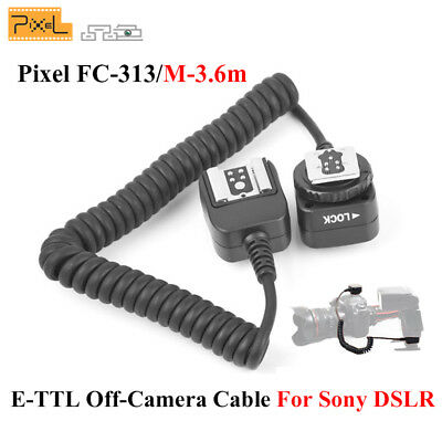 Pixel FC-313/M3.6m Off-Camera Shoe Cable Cord, Compatible with Sony DSLR Camera