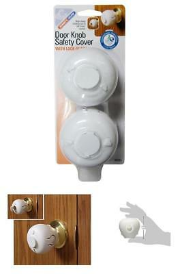 Door Knob Safety Cover Lock Guard Children Handle Protecting Toddler Protect New