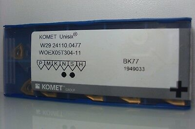 10 x Komet Woex 030204-01 Bk8425 Indexable Inserts Carbide Inserts