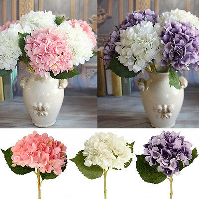 Rose Silk Flowers·Artificial Hydrangea Bouquet Wedding Bridal Party Home Decor
