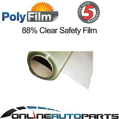 Safety Window Glass Film 88% Clear Security 76cmx10m Shatter Proof Anti Scratch
