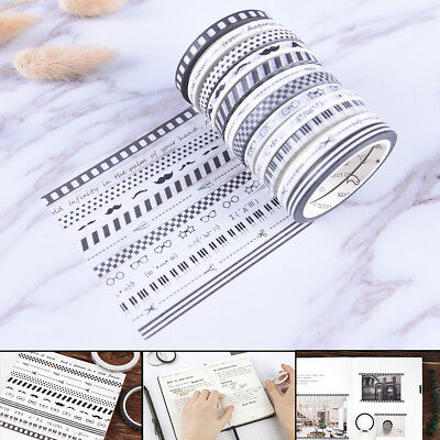 Originality Slim Washi Tape DIY Scrapbooking Masking Tape School Office SupplyJR