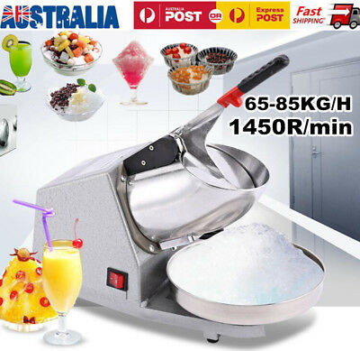 Electric Ice Crusher Shaver Snow Cone Maker Home&Commercial Kitchen Machine