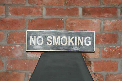 No Smoking Vintage Shabby Chic Wooden Sign Old Look Pub Restaurant Cafe