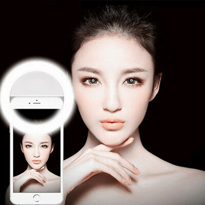 Selfie LED Ring Flash Fill Light Clip Camera For Smart Phone Cell Phone