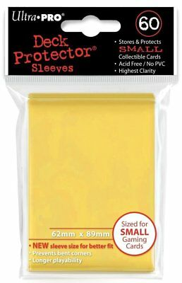 60 1pk ULTRA-PRO Small Mini YuGiOh Card Sleeves Deck Protector 82970 Yellow