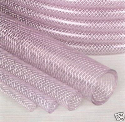 Reinforced PVC hose 8mm 5/16 Inside Diameter clear water hose pipe tube x 1M