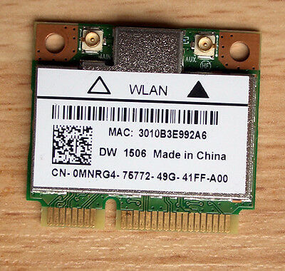 Neu.Dell  Wireless DW1506 Wlan Atheros Model:AR5B125 WiFi 802.11b/g/n