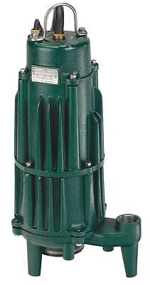 Zoeller 2 HP Grinder Pump, CPCR Motor, 104 ft.Max. Head, Carbon/Ceramic Shaft