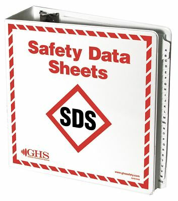 GHS Safety SDS Binder, English - GHS1049