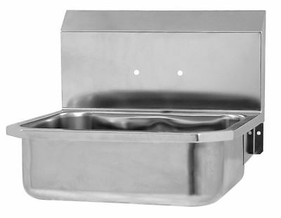 Sani-Lav Stainless Steel Hand Sink, Without Faucet, Wall Mounting Type, Silver -