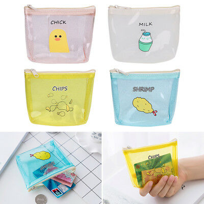 Women Girls Cute PVC Coin Purse Wallet Bag Change Pouch Key Credit Card Holder