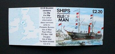 ISLE OF MAN 1993 Ships Large Stamps. £2.20 BOOKLET. Mint Never Hinged