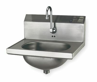 Eagle Group Stainless Steel Hand Sink, With Faucet, Wall Mounting Type, Silver -
