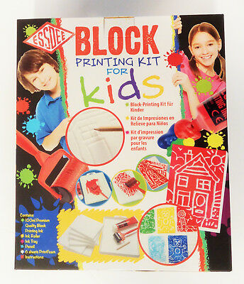 Essdee Block Printing 10 Piece Educational Kit Gift Set For Kids Christmas Gift