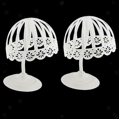 2pcs FREE STAND Plastic Baby Hat Cap Display Holder Hair Wigs Dryer Rack