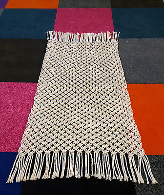 Easy DIY Macrame Kit,Cotton Bathmat,Knotted Rug,Wallhanging, Beginners Xmas Gift