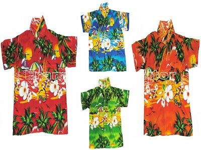 Hawaiian Shirt Beach Boys Girls Kids Teens ALL AGES & COLOURS