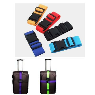 2pcs Adjustable Suitcase Luggage Straps Travel Baggage Belt Buckle Tie Down
