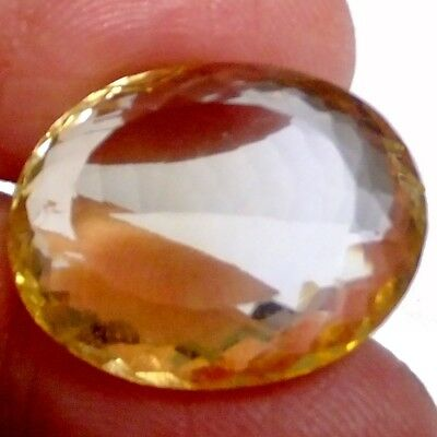 NATURAL GOLDEN YELLOW CITRINE GEMSTONE LARGE LOOSE OVAL CUT   23 x 18.6 mm