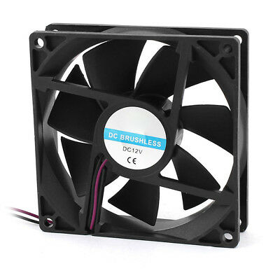 HH- 90mm x 25mm 9025 2pin 12V DC Brushless PC Case CPU Cooler Cooling Fan New