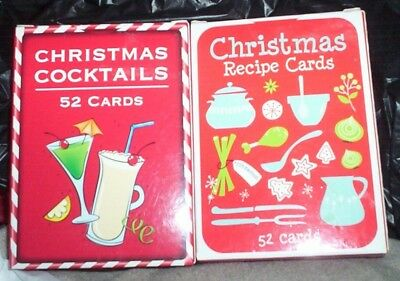 CHRISTMAS cocktail or recipe or playing cards new Xmas cook mix drink play