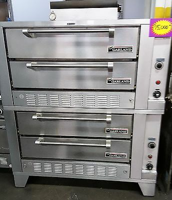 Garland Gas Pizza 4 Deck Oven -(Two Stacked G2771 Models)