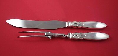 Cactus by Georg Jensen Sterling Silver Roast Carving Set 2pc HHWS