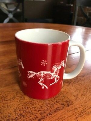 Equestrian mug - Winter, set of four