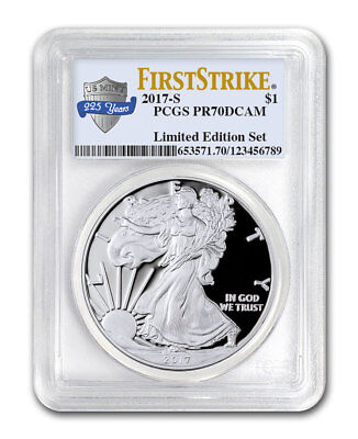 2017-S Proof Am Silver Eagle Fr Limited Edition PCGS PR70 DCAM FS 225th SKU50363