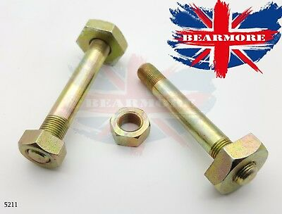 ROYAL ENFIELD REAR FOLDING FOOTREST STUD & NUT PAIR 100mm LONG STUD