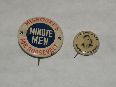 Vintage Group Lot Pinback Button Pin Campaign Political Fdr Franklin Roosevelt