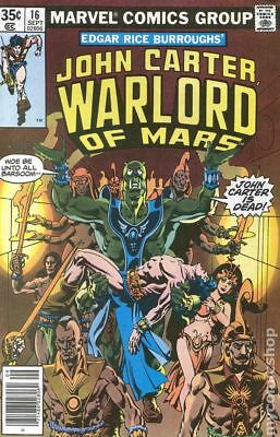 John Carter Warlord of Mars (1977 Marvel) #16 FN STOCK IMAGE