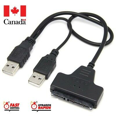 "USB 2.0 to SATA 22Pin Cable for 2.5"" Hard Drive, Solid State Drive Plug and Play"