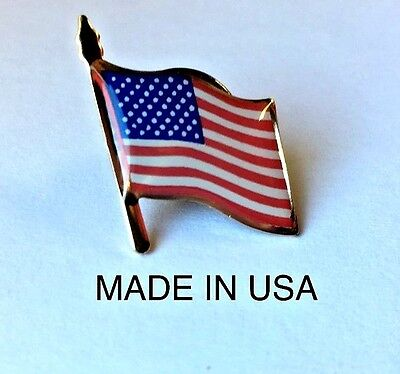 American Flag Lapel Pin *made In America* Trump Usa Patriotic