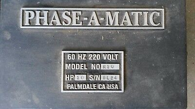 Phase-A-Matic 10 horsepower phase converter, lightly used