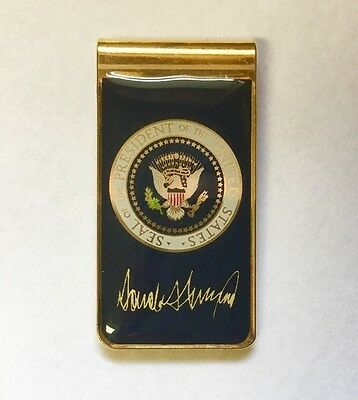 PRESIDENTIAL SEAL Donald Trump MONEY CLIP W/SIGNATURE USA MADE FATHERS DAY  Gift