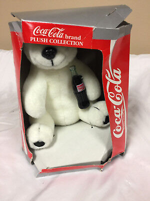 Coca-Cola  Polar Bear Plush Bear 1993 w/Coke Bottle