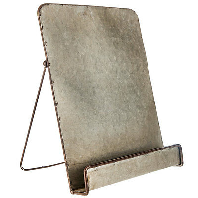 Galvanized Metal  Reading Rest Cookbook Cook Book Stand Holder Tablet Holder