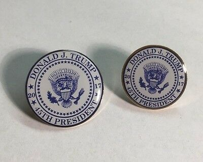 Donald Trump 45th Presidential Seal Lapel Pin 2017 **MADE IN USA** SET OF 2