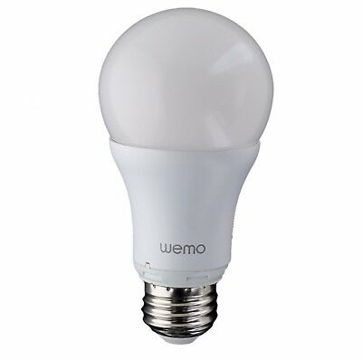 Belkin WeMo Smart LED Light Bulb, Wi-Fi Enabled 9.5 Watts
