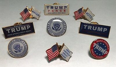Donald Trump Make America Great Again Lapel Pin Lot Patriotic *Made In Usa* 45Th