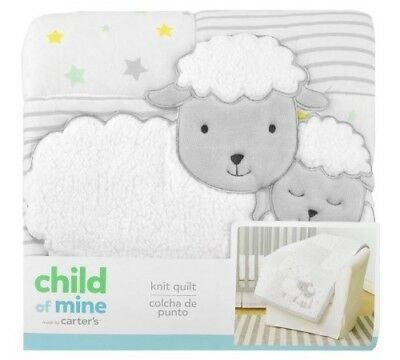 Carter's Child Of Mine Lamb Knit Quilt