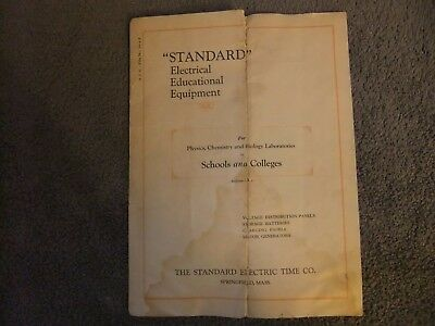 Vintage Standard Electric Time Co. Product Brochure