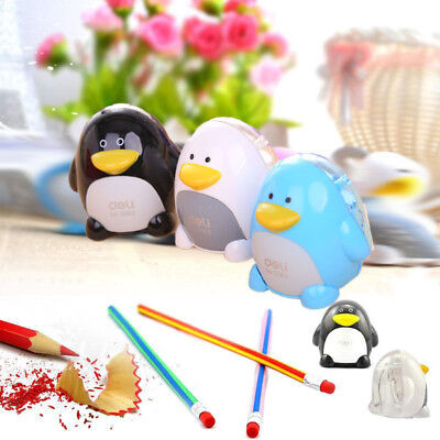 New Deli Plastic Pencil Sharpener Penguin Pink Colorful Office Supplies