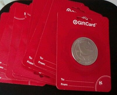 20 NEW Target Bullseye Silver COINS LIMITED EDTION GIFT CARDS  20 total cards