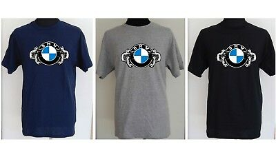 BMW MOTORCYCLE colour logo BOXER CLASSIC  t-shirt - S to 5XL
