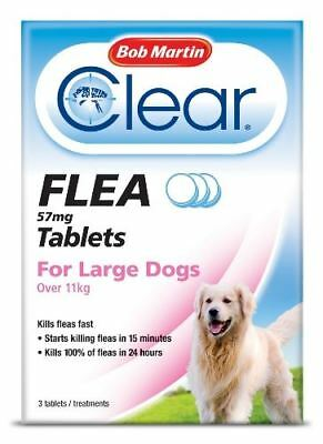 Bob Martin - Clear Flea Tablets for Large Dogs Over 11kg x Size: 3 Tablets