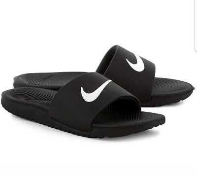 NIKE Kawa Slide (GS/PS) Sandal Style: 819352 00 - Black -