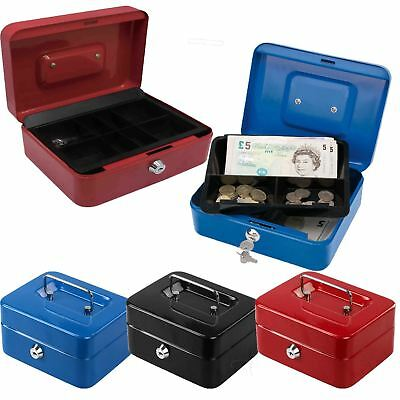 New Safe Security Steel Metal Money Bank Deposit Cash Box Tray Holder